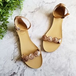 Jack Rogers | Daphne Rose Gold Medallion Sandals